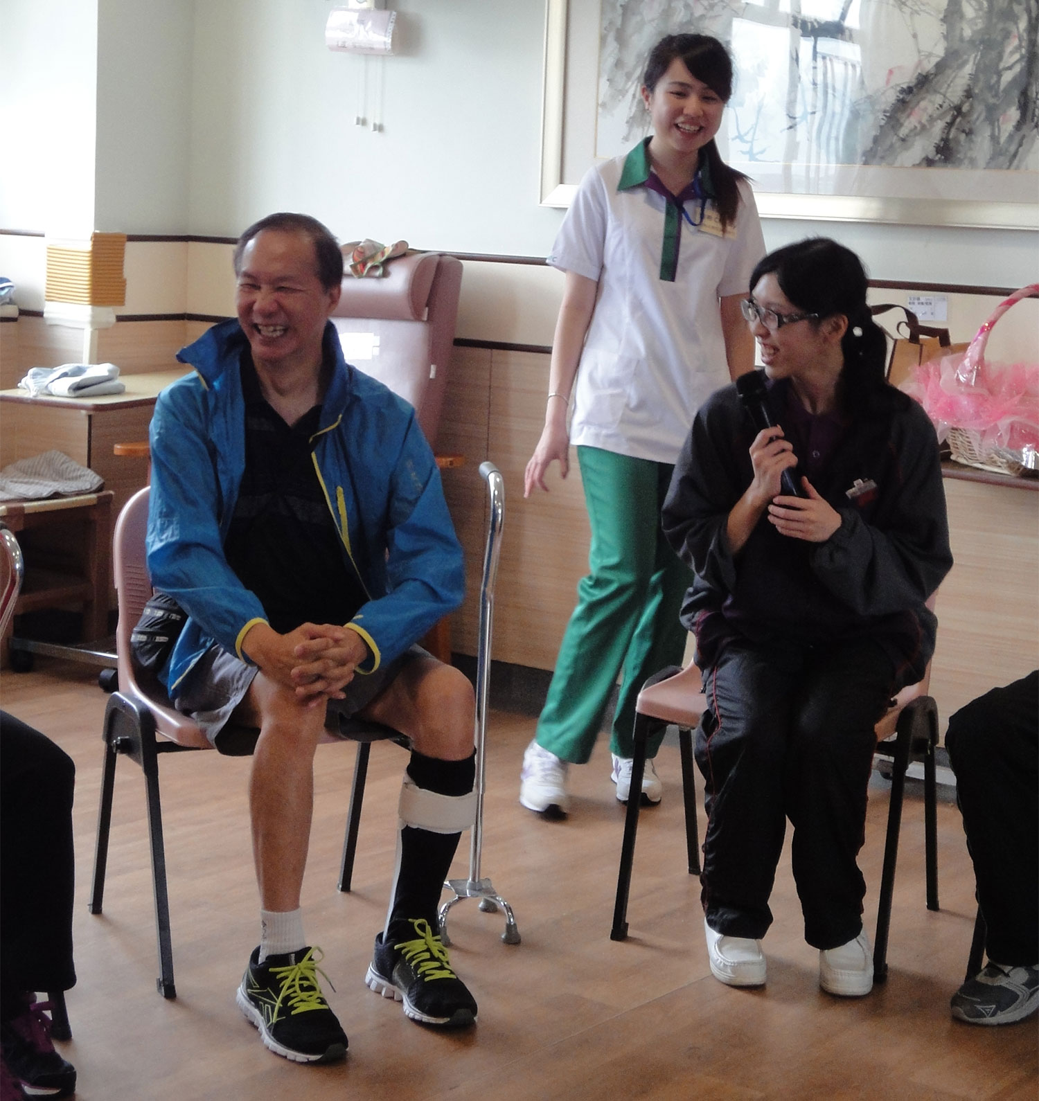 Participation in volunteer visit to an elderly home