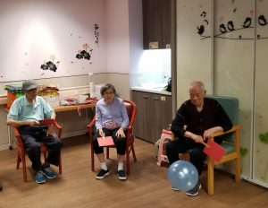 Interactive games and toys are used to retrain the cognition and senses of residents with dementia.
