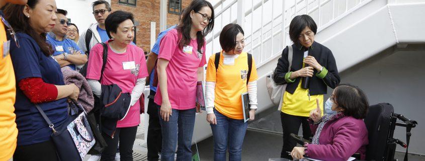 嘉賓們變身成「無障行者」,參與各體驗活動。
