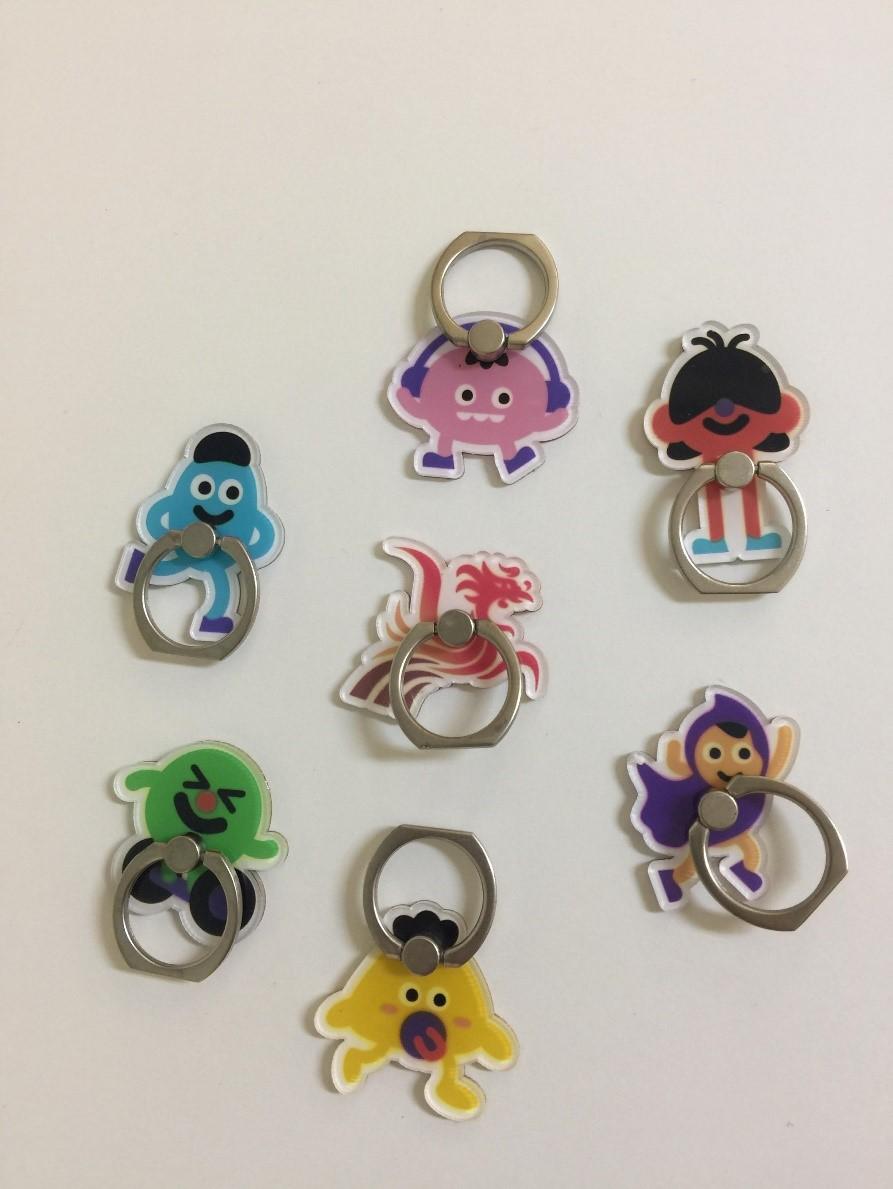 香港復康會吉祥物手機指環樣板: